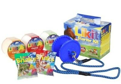 LIKIT Starter Kit for Horses or Ponies Licks, Holder & Treats Gift Selection