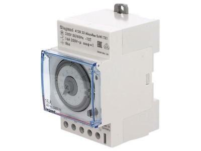 412823 Programmable time switch 30m÷24h SPDT 250VAC/16A 230VAC DIN T31SU/WI