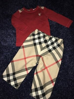 Burberry Baby Pants and Top 6 Months