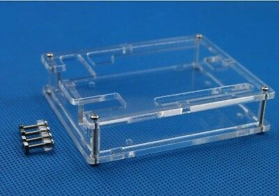 2pcs Transparent Acrylic Box Clear Cover Enclosure Case  for Arduino UNO R3