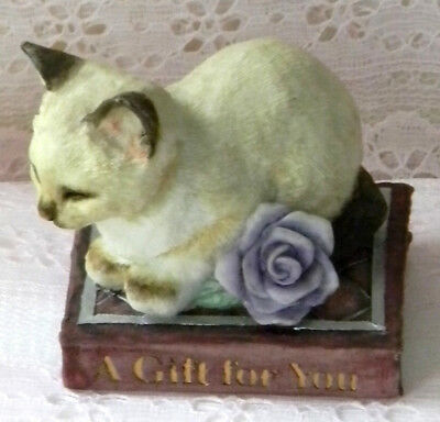 """New WOB Country Artist """"A Gift For You"""" Kitten Figurine #03143"""