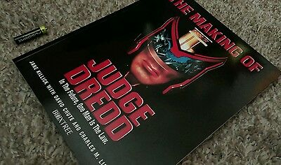 The Making of  Judge Dredd by David Chute, Charles Lippincott, etc....LARGE SOFT