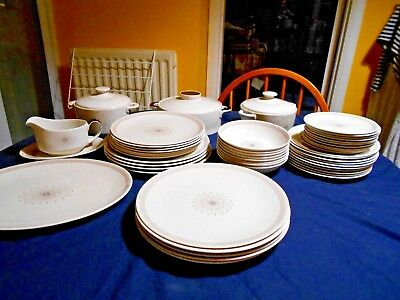 Royal Doulton Morning Star-plates, cereal bowl, platter, casserole dish