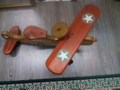 VINTAGE 1960's Great American Flying Machine WOODEN AIRPLANE...SCOOTER..TOY...