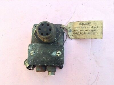 WW2 Air ministry compass junction box with AM & Crown RAF ref 5C/1034