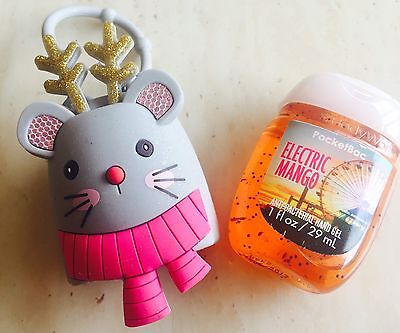 Bath & Body Works Pocketbac Holder Reindeer Mouse  Rare & Gel From USA 😍