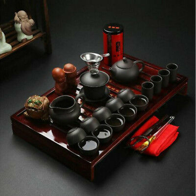 China Kung Fu Tea Set Drinkware Purple Clay ceramic Tea pot Cup Infuser Tea Tray