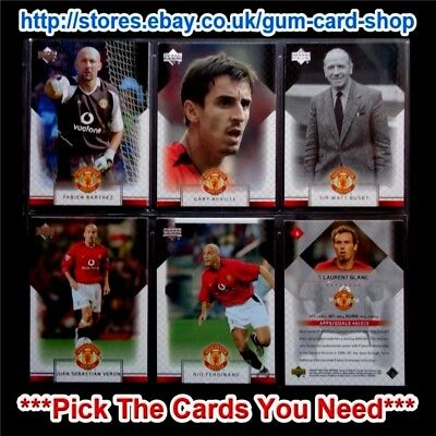 Upper Deck Manchester United 2002-2003 *Pick The Cards You Need*