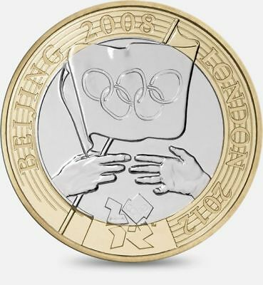 Rare Beijing To London Olympic Handover £2 Two Pound 2 Coin 2008 Coin Hunt