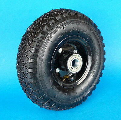 Replacement Pneumatic Jockey Wheel with Steel Rim 20mm Spindle Bore - Trailer