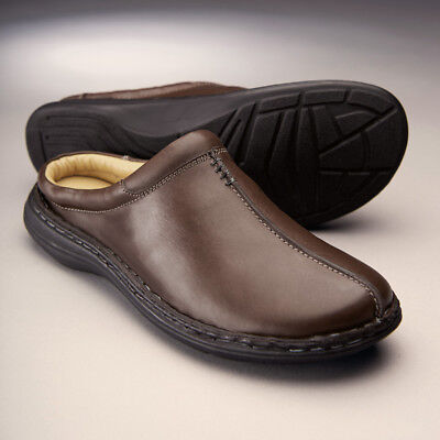 Samuel Windsor Mens Slippers Outdoor Mule Leather Lining Slip On Size 5-14 NEW