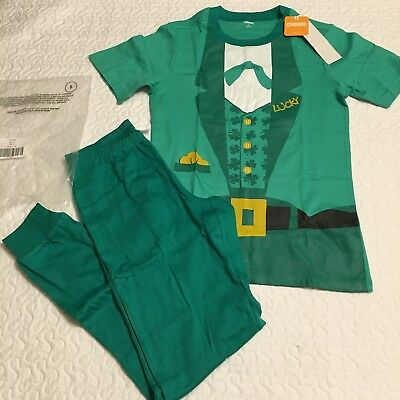 GYMBOREE ADULT Green Lucky 2-Piece Pajamas St.Patrick Size Small