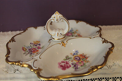 Gorgeous Reichenbach German Democratic Republic 3 Sectional Dish With Handle