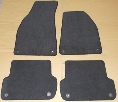 New Genuine Audi A4 B6 B7 Seat Exeo Front + Rear Black Carpet Mats Set