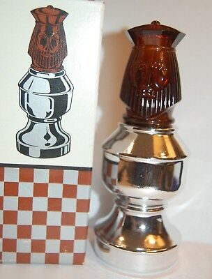 Vintage Avon Bottle The King II Chess Piece clean  empty free shipping