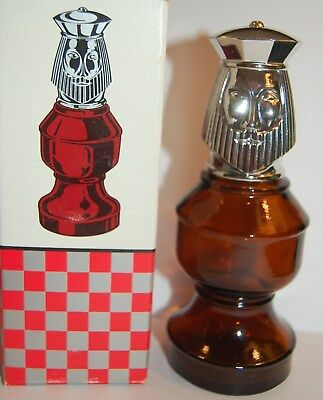 Vintage Avon Bottle The King Chess Piece clean  empty free shipping