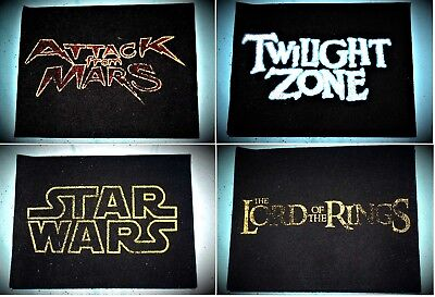 4 Pinball FLOOR MATS Twilight Zone, STAR WARS Attack from Mars LORD OF THE RINGS