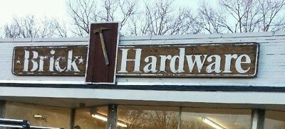 Antique Brick Hardware Sign from New Jersey Hardware Store