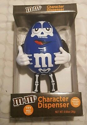 M&Ms blue Halloween dispenser 2017 10""