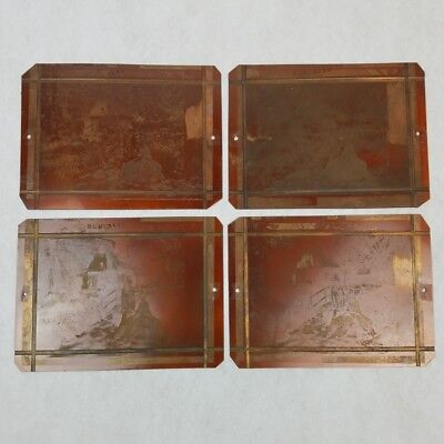 Vintage Copper Printing Press Plates Lot of 4 Colonial Landscape Virginia Photo