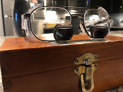 Designs For Vision Surgical Telescopes Dental Medical Loupes + Wooden Box
