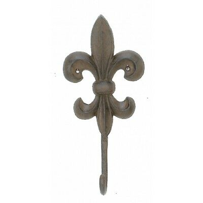 New Large Cast Iron Fleur De Lis Wall Hook French Country Look