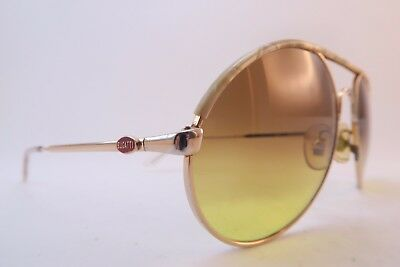 Vintage Bugatti sunglasses iridescent brow detail tinted gradient lens France
