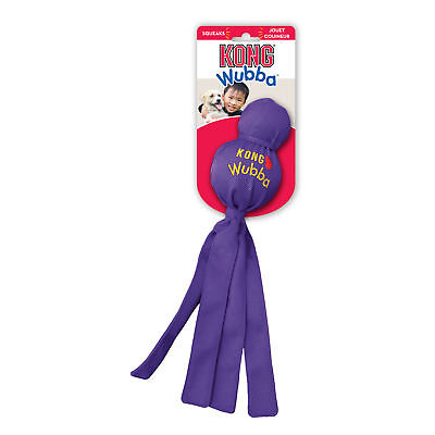 KONG WUBBA Dog Puppy Fetch Interactive Tug Squeaker Toy LARGE (WB1)
