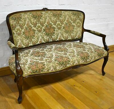 Beautiful antique style French sofa - settle - settee