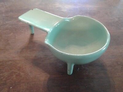 Vintage MOD Solid Cast Iron Enamel  Ashtray St Louis ART Aseptible Furniture Co.