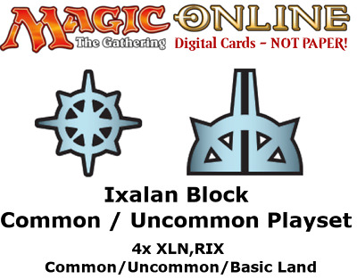 MTGO Magic Online Ixalan Block 4xCommon/Uncommon Playset XLN RIX