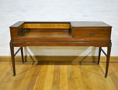Antique mahogany converted piano writing table - desk  - console sideboard c1794