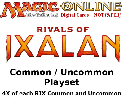 MTGO Magic Online RIX Rivals of Ixalan Playset 540 Cards 4x Common/Uncommon