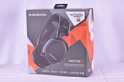 SteelSeries Arctis 7 Wireless Gaming Headset + DTS + 7.1 Surround - Black