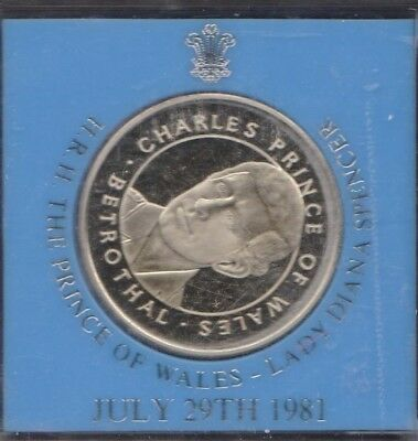 1981 Princess Diana Betrothed to Prince Charles Medal Commemorative
