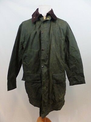 Barbour Green Border Waxed Cotton Oilskin C42