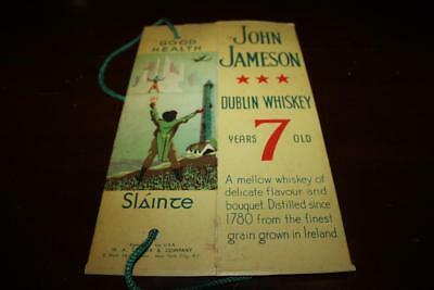 Vtg John Jameson Dublin Irish Whiskey Advertising Cardboard Cord Bottle Carrier