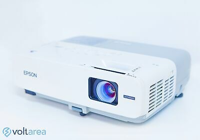 Epson PowerLite 826W+ LCD Projector with remote HDMI adapter and cables