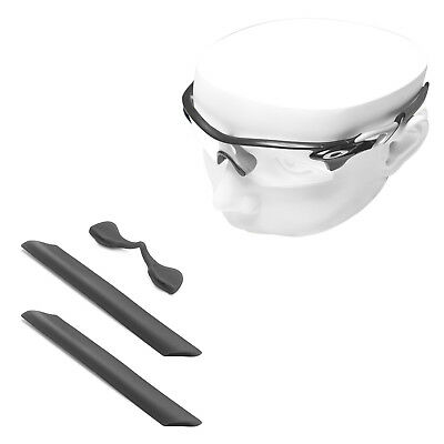 Black Silicone Kit Replacement Ear Socks & Nose Piece for-Oakley RadarLock Path