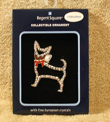 Regent Square Jeweled Chihuahua Christmas Ornament by Harvey Lewis - NIB