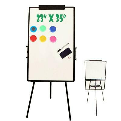 "23""x35"" Magnetic Writing White Board Single Side Dry Erase w/Adjust Mobile Stand"