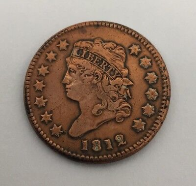 1812 Classic Head Large One Cent Coin Penny