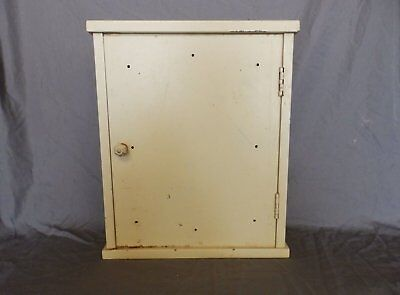 Antique Metal Surface Mount Medicine Cabinet Vintage Shabby Old Chic 127-18P