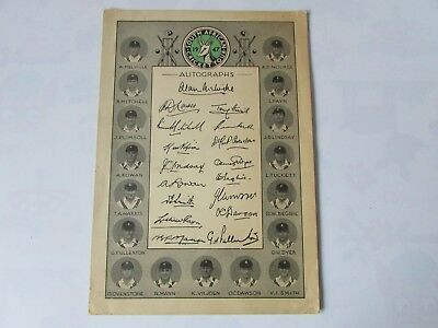 South AFRICA Cricket Tour England 1947 S Programme With Pre PRINTED Autographs