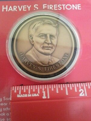 Harvey S. Firestone Rare Collectible Coin Mint!!
