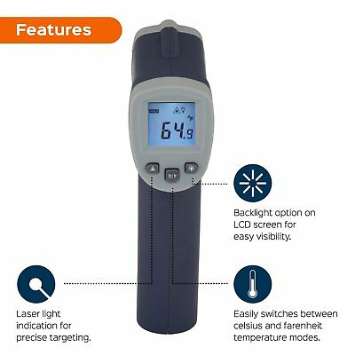 Temperature Non Contact Infrared Thermometer Sensor Digital Laser Targeting 2018