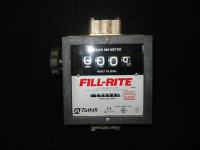 "FILL-RITE Liquid Mechanical Flowmeter 6 to 40gpm 50psi 1""Pipe size1 1/2""connect"