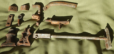 Odd Lot of Vintage Wrought Iron Fence Parts