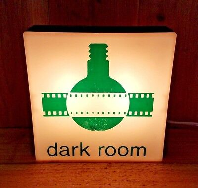 DARK ROOM Lighted Sign Photography Photo Booth Warning Light