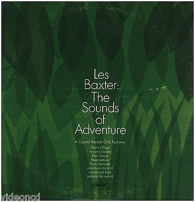LES BAXTER The Sounds Of Adventure RECORD CLUB CAPITOL SQBO 90984 TWO LP RECORDS